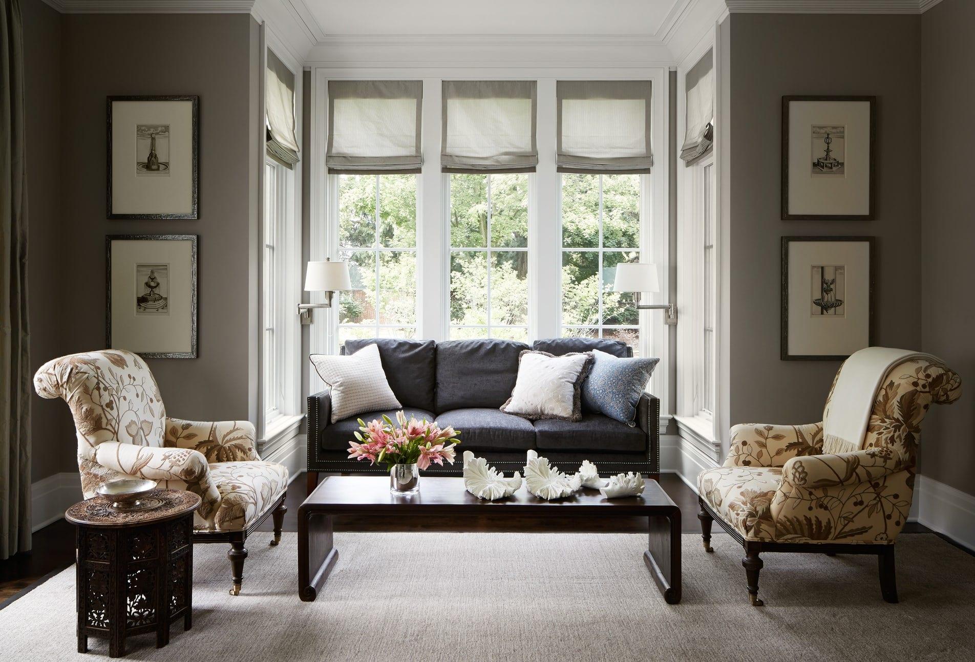 warm gray living room