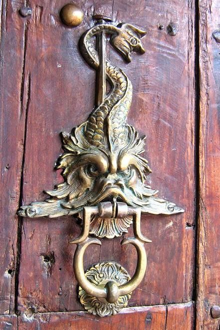 Odd Door Knocker Vintage Britain for Good Luck